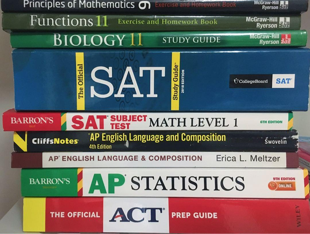 UNUSED NEW AP PREP BOOKS ALL IN PHOTOS FOR 50 TOTAL