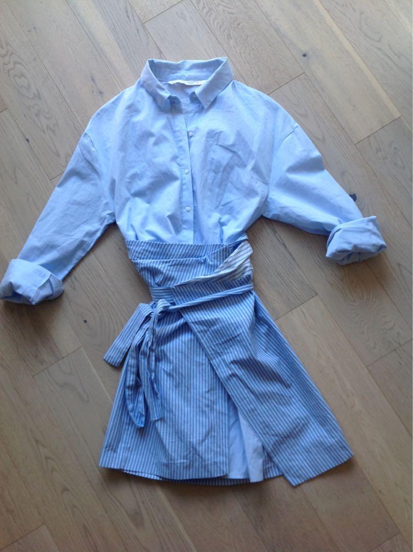 ZARA bf shirt dress