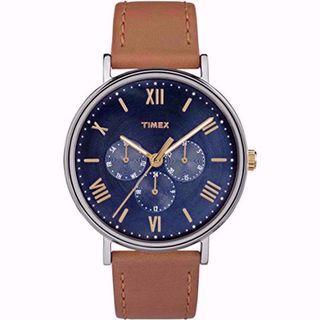 Timex 手錶 TW2R29100 Southview 41 Multifunction Tan/Blue watch#MTRtaiwai