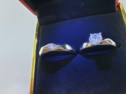 S925 silver Couple ring