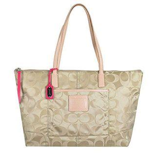 🚚 Coach Legacy Signature Weekend Tote Bag 24862