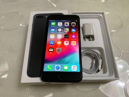 IPhone 7 Plus 霧黑 32g 5.5吋 (IOS:12.4)原盒配件無耳機、 原廠屏幕、IMEI及序號都正常、外觀左上小傷,無修無摔無泡水、 所有功能正常順暢。已貼滿版保護貼。 電池健康度🔋87%