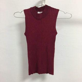 Red Wine Knitted Top