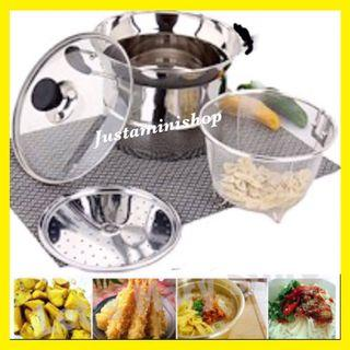 Steam & Frying Cooking Pot