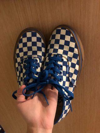 Vans藍色棋盤格23.5