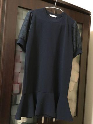 雪坊魚尾洋(深藍)肩38胸45長82