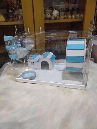 🚚 Acrylic Hamster carrier Cage