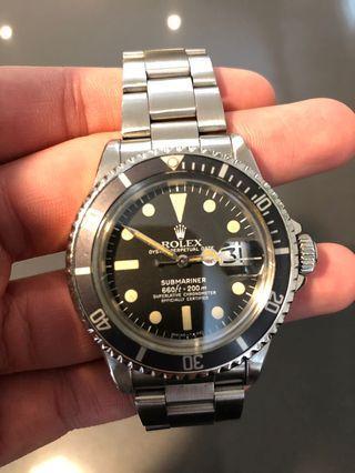 Rolex 1680 vintage submariner date 1977 rolex1680 5513 1675