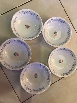 5pcs 14cm corelle plate bowl