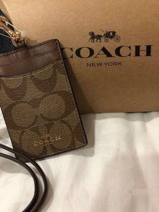 Restock! BN Coach Leather Lanyard and Cardholder