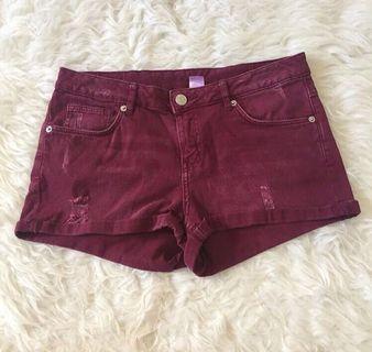 Hotpants maroon