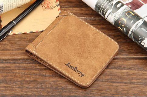 【Q夫妻】Baellerry Wallet PU皮革 橫款 短皮夾 男用 棕色  #BB003-2