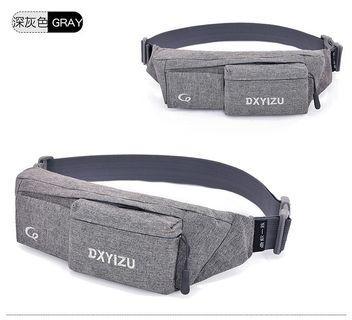【Q夫妻】Waist Bag 帆布包 休閒包 單肩包 腰包 迷你包 深灰色 #B2001-4