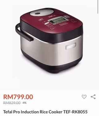 Tefal Pro Induction Rice Cooker 1.8L