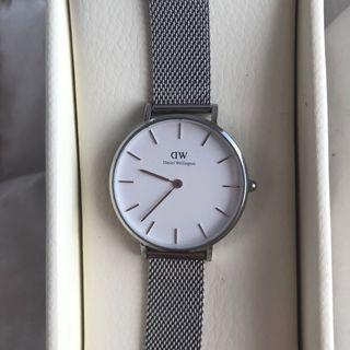 Daniel Wellington Classic Petite Sterling White Dial Watch Silver 32mm