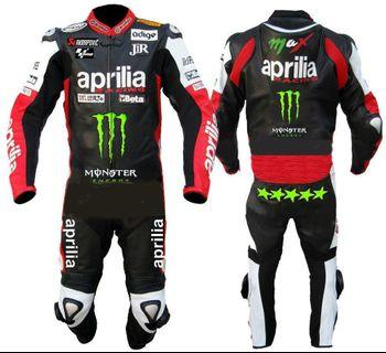 motorbike leather racing suit aprilia desgin 2019