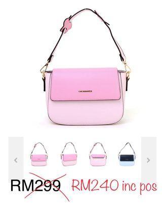 🆓📮Authentic Boutique Giossardi Stylish Flower Strap Saddle Bag