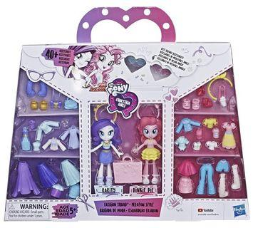 🚚 My Little Pony Equestria Girls Fashion Squad Rarity & Pinkie Pie Mini Doll Set with 40+ Accessories