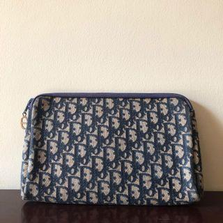 100% Authentic Vintage Christian Dior Trotter Oblique Jacquard Canvas Clutch Bag FREE SHIPPING