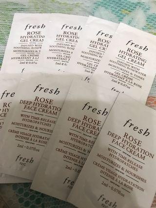 Fresh rose face cream or face gel 每包$5 買四包$20包郵