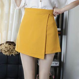 Summer new skirt female 2019 fashion a word skirt anti-exposure skirt pants solid color wild skirt large size skirt tide