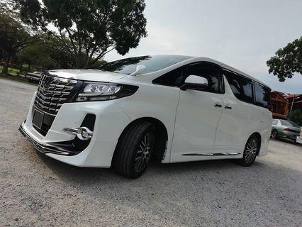MPV Alphard 2018 Latest Model Car for rent Cyberjaya Kuala Lumpur Shah Alam Klang