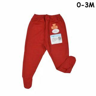 0-3 Red footie / newborn footie / baby footed pants / miyo baby