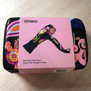 全新可預訂 美國版 Amika Mini Ionic Hair Dryer Sechoir De Voyage Ionique 迷你風筒 旅行風筒