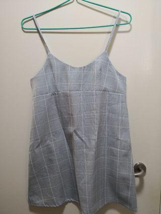 (2 for $10) Gingham Slip dress