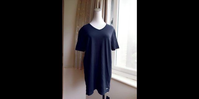 EMPORIO ARMANI 水滴領純棉素T恤