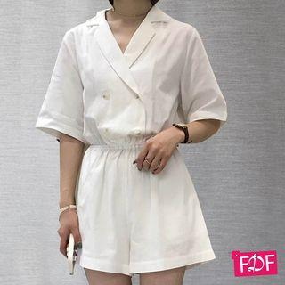 Jumpsuit White Korean import