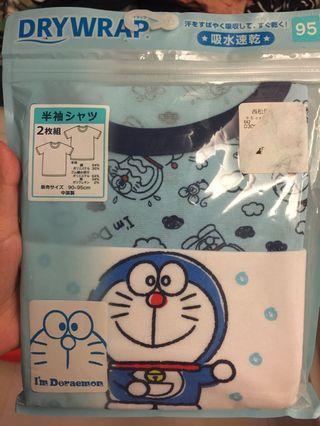(包郵)Doraemon 多拉a夢 叮喵衫-95碼 吸水速乾