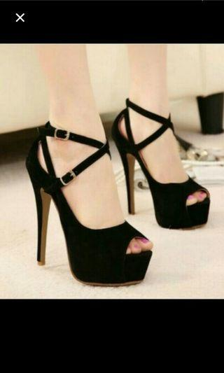 (NO INSTOCKS!!)PREORDER korean style ankle straps clubbing high heels shoes* waiting time 15 days after payment is made * chat to buy to order