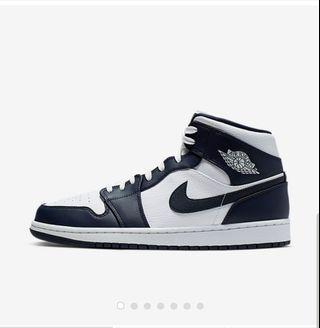 Air Jordan 1 mid obsidian
