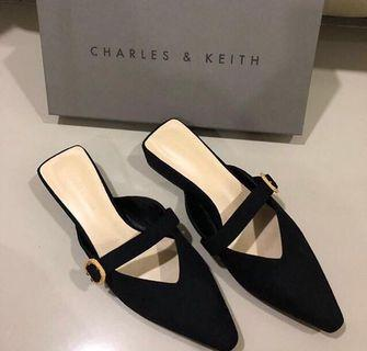 Charles and Keith Suede Heels