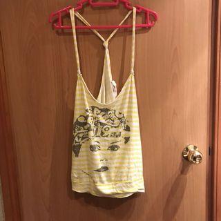 Zara 黃色間條背心 / Zara yellow vest top / tank top
