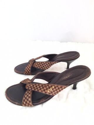 Authentic Louis Vuitton Pony hair sandal