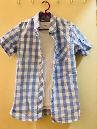 Uniqlo grid blouse 73