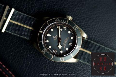 【減價優惠】全新Baselworld帝舵 79250BA Tudor Slate Grey Beckham Bronze Black Bay 加送上鍊錶盒