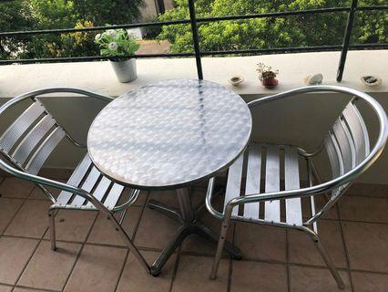 Outdoor table set  from Aluminum with 2 chairs