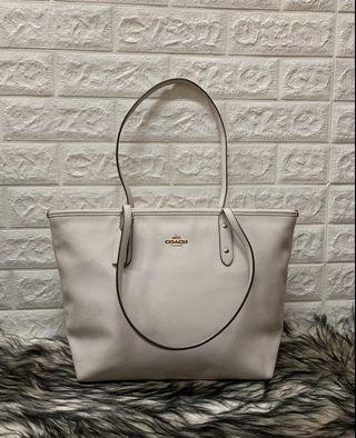 Coach Crossgrain Leather City Zip Tote Handbag