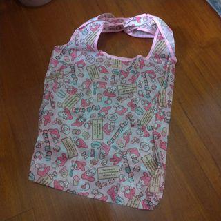 🚚 (全新)美樂蒂粉色滿版購物袋/手提袋