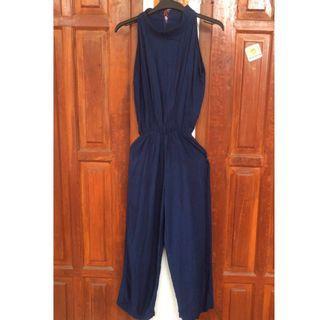 Navy sleeveless jumpsuit