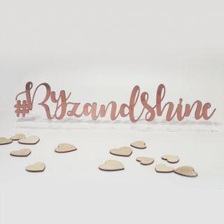 Rose Gold Hashtag Sign