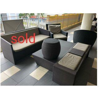 Sofa/ Coffee table/ outdoor Patio Furniture @$ 80 each