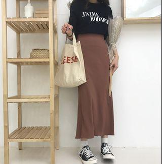 🆕BRAND NEW Brown Maxi Flare Skirt