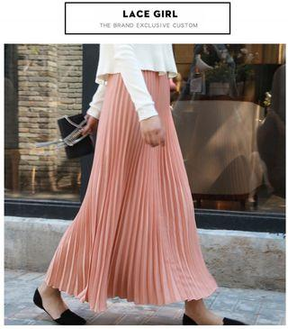 🆕BRAND NEW Pink Pleated Princess Maxi Skirt