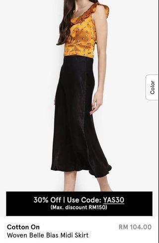 Cotton On Satin Skirt