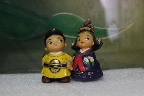 Asian Couple Miniature