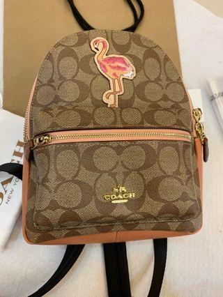 Authentic Coach 28948 flamingo mini Charlie backpack
